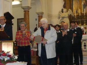 """Rassegna Pianiga 2012: tributo di riconoscenza al corista """"storico"""" Luigi Barbato"""